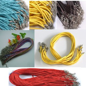 a selection of leather cords