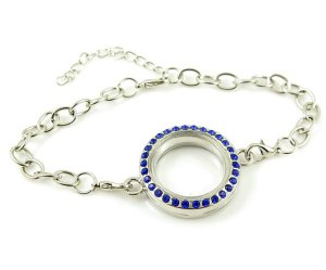 bracelet locket blue