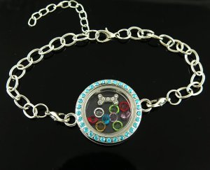 bracelet locket green 2