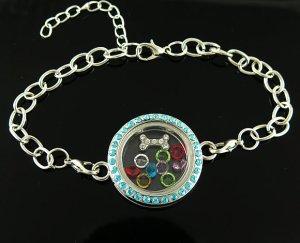 bracelet locket green 2