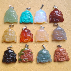 Carved Natural Stone Mixed buddha Pendants