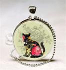 cabochon black cat