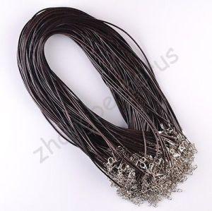 dark brown leather cord